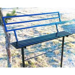 Скамейка металлическая со спинкой для памятников.