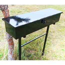 Скамейка металлическая с ящиком.