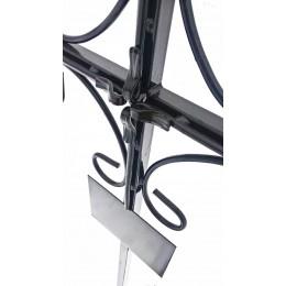 Крест металлический Католический с коваными элементами, доставка и установка на могилу.