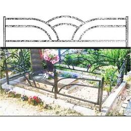 Ограды для могил металлические №15, оптом и в розницу по невысокой стоимости.