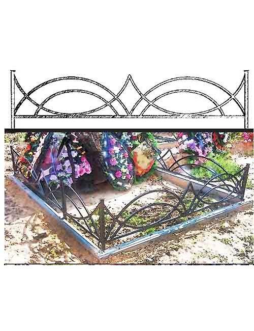 Купить ограды для могил металлические №16, собственное производство со 100% гарантией качества.