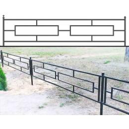 Купить ограды металлические №24, оформление памятников.