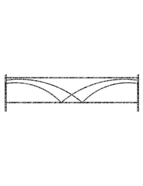 Ограда металлическая рис №17