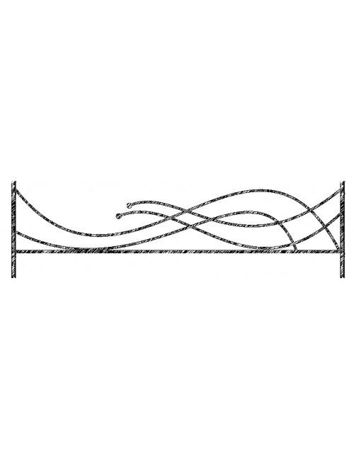 Ограда металлическая рис №19
