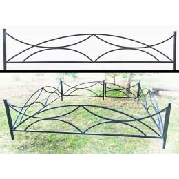 Эксклюзивная ограда металлическая №21, заказ и изготовление в короткие сроки.