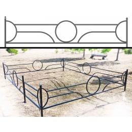Нужна качественная оградка металлическая на кладбище? Ограды №22 из профильной трубы под заказ.