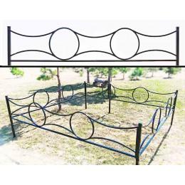 Производство оград для могил металлических и кованых №23, установка к памятнику на могилу.