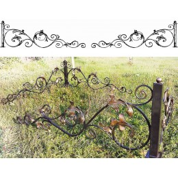 Установить ограду кованую на могилу № К7, оформление захоронений с использованием ковки.