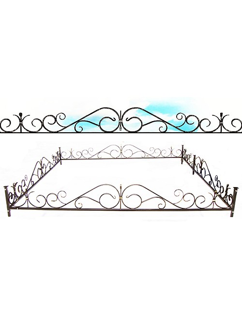 Ограда кованая № К1, производство оград кованых в Жодино.