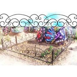 Кованые ограды на могилу в Минске № К5, изготовление и установка к памятнику на кладбище.