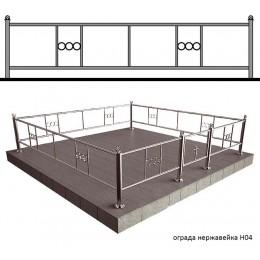 Заказать ограду из нержавейки для могилы № Н4, доставка оград в Минск.